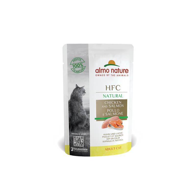 Almo Nature Classic – piščančanec in losos – 55 g