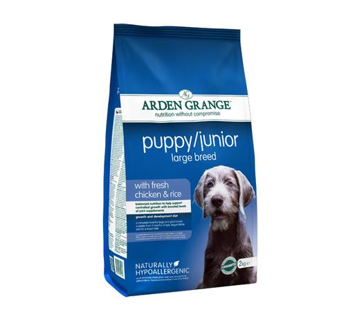 Arden Grange Puppy Junior Large – piščanec in riž 2 kg