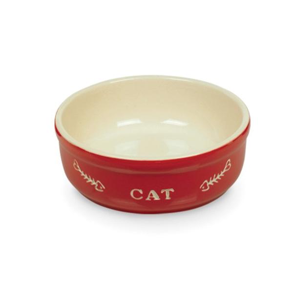 Nobby posoda keramika, rdeča in bež - 13 cm