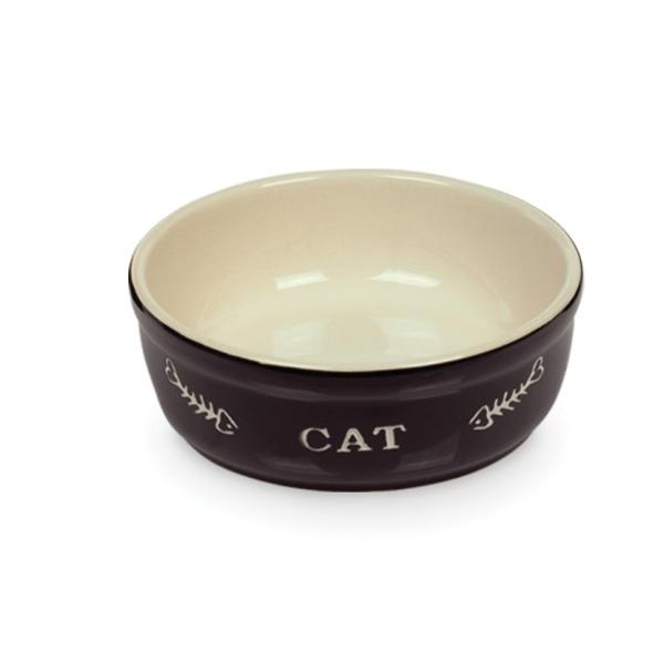 Nobby posoda keramika, črna in bež - 13,5 cm