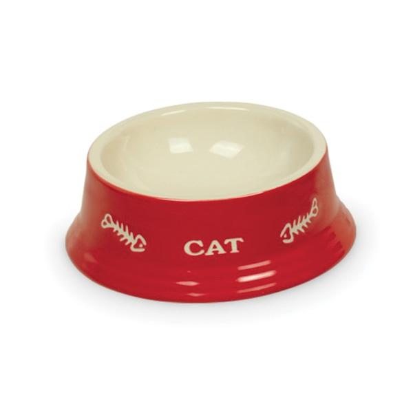Nobby posoda keramika, rdeča in bež - 14 cm