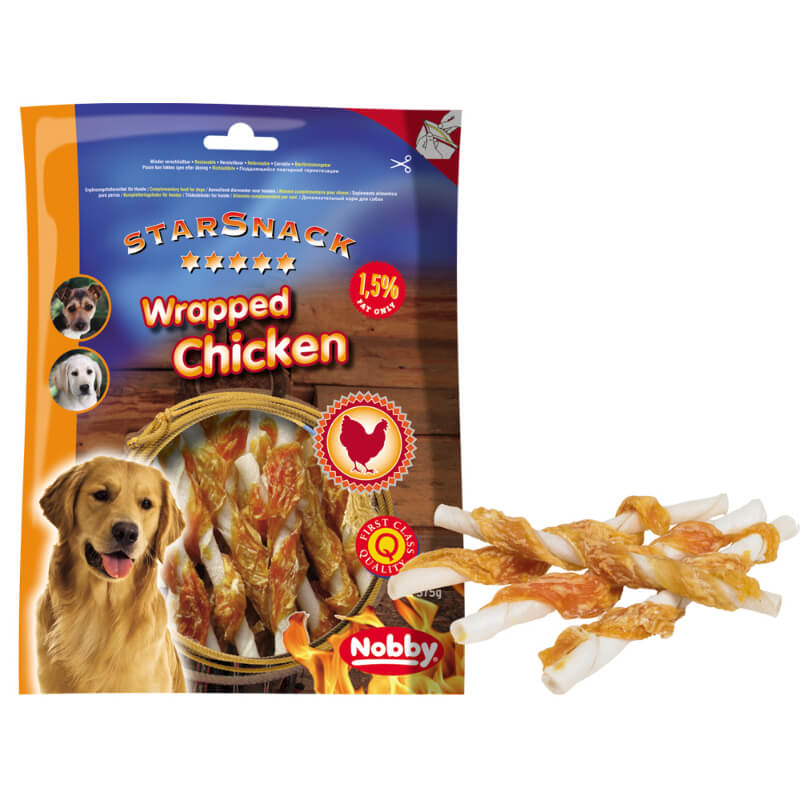 Nobby Starsnack piščanec na palčkah – 375 g