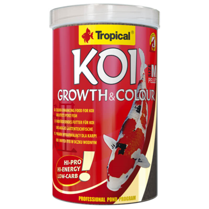 Tropical Koi Growth & Colour peleti, M - 3 l / 1 kg
