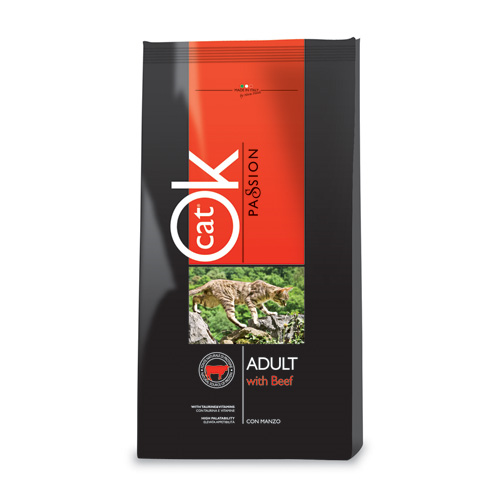Ok Cat Passion Adult - govedina - 1,5 kg
