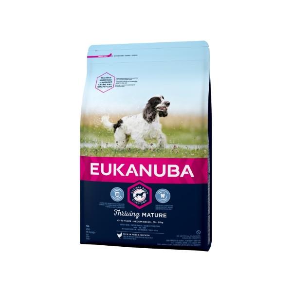 Eukanuba Senior Medium - piščanec - 3 kg
