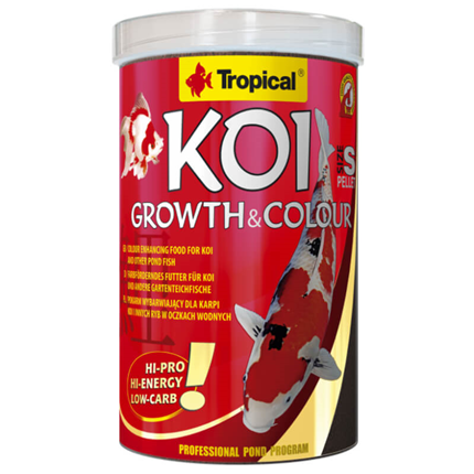 Tropical Koi Growth & Colour peleti, S - 3 l / 1,2 kg