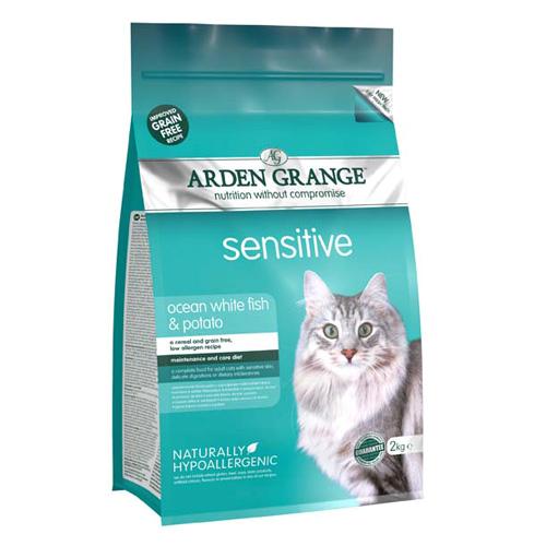 Arden Grange Adult Sensitive - bela riba 400 g