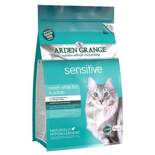 Arden Grange Adult Sensitive - bela riba 4 kg
