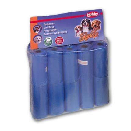 Nobby drečke (vrečke za iztrebke) Refil, modra - 20x15 kos