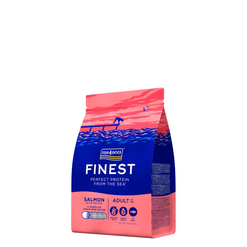 Fish4Dogs Adult - losos - 12 kg