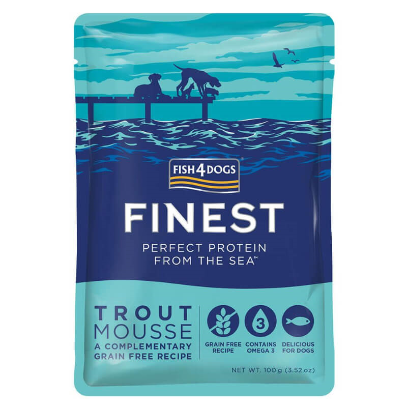 Fish4Dogs postrv mousse - 100 g