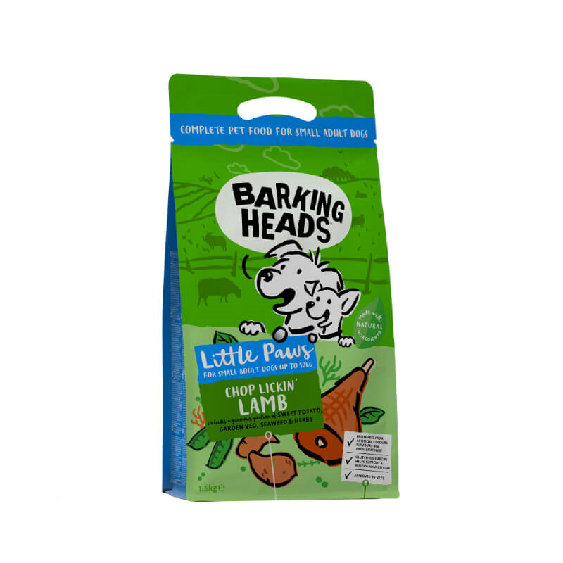 Barking Heads Tiny Paws Bad Hair Day za male pasme - jagnjetina 1,5 kg