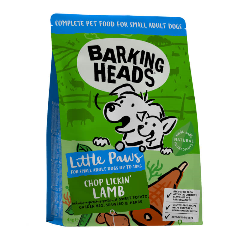 Barking Heads Tiny Paws Bad Hair Day za male pasme - jagnjetina 4 kg
