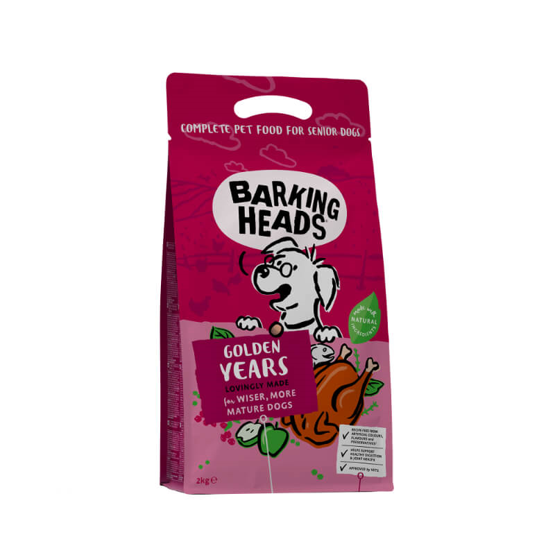 Barking Heads Golden Years za starejše pse 2 kg