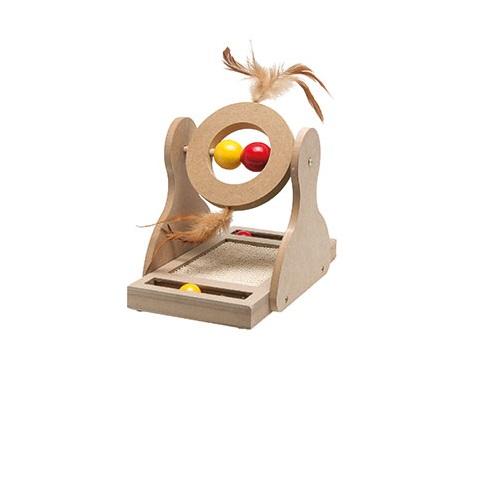 Flamingo Tumbler praskalnik za mačke, z igračo - 17 x 20c x 30 cm