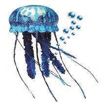 Nobby dekor plavajoča meduza plavajoča, modra - 10 cm