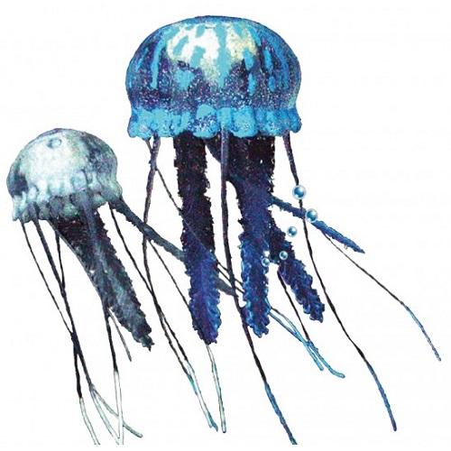 Nobby dekor plavajoča meduza plavajoča, modra in bela - 2 kos