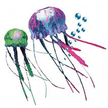 Nobby dekor plavajoča meduza plavajoča, roza in zelena - 2 kos