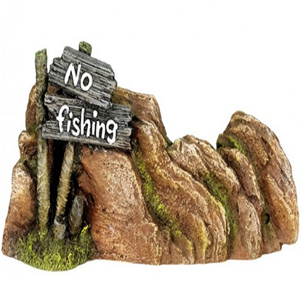 Nobby dekor kamen 'No Fishing' - 23 x 5 x 10 cm