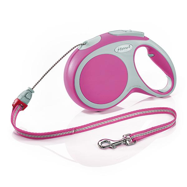 Flexi povodec Vario M, vrvica - 8 m (različne barve) Pink
