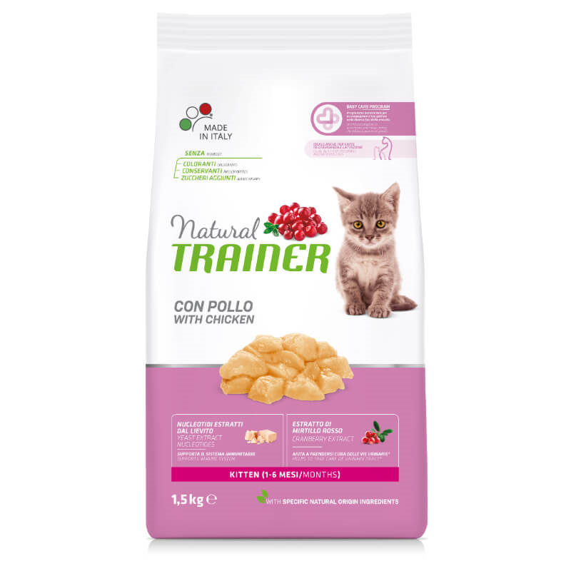 Trainer Cat Natural Kitten - piščanec - 1,5 kg