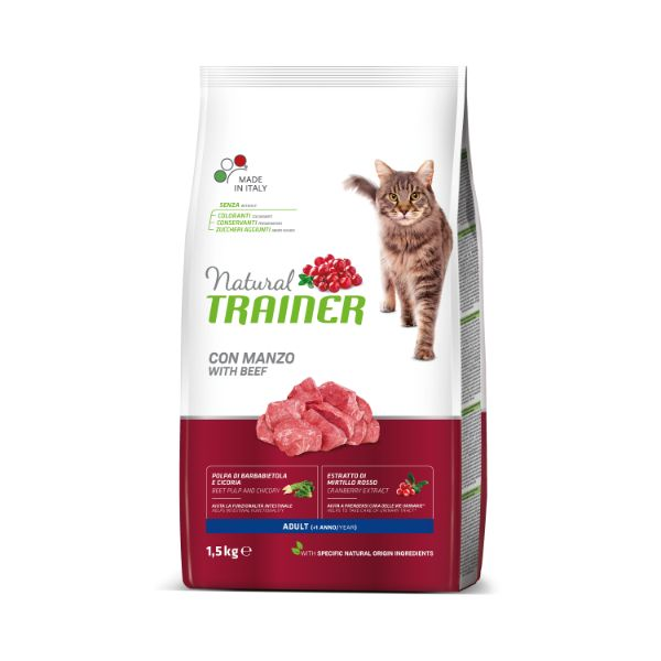 Trainer Natural Cat Adult - govedina 1,5 kg