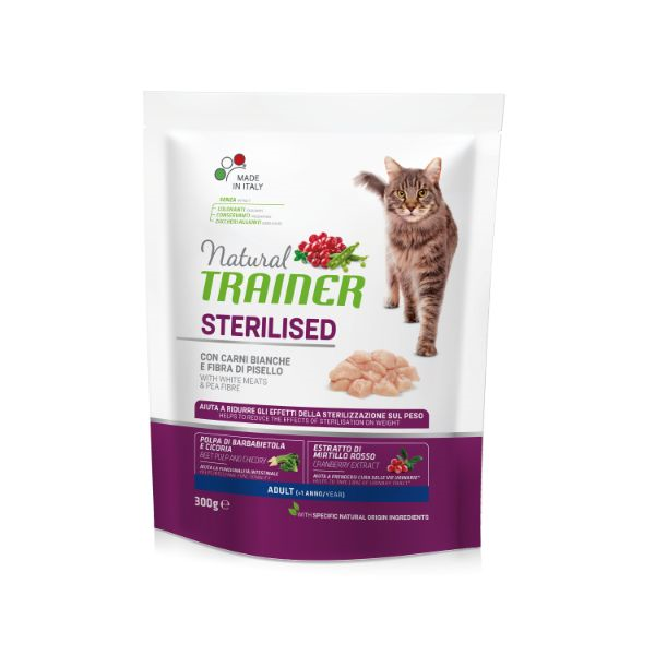 Trainer Cat Natural Sterilised - puran- 300 g