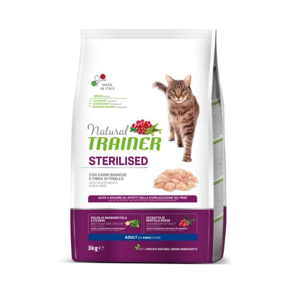 Trainer Cat Natural Sterilised - puran- 3 kg
