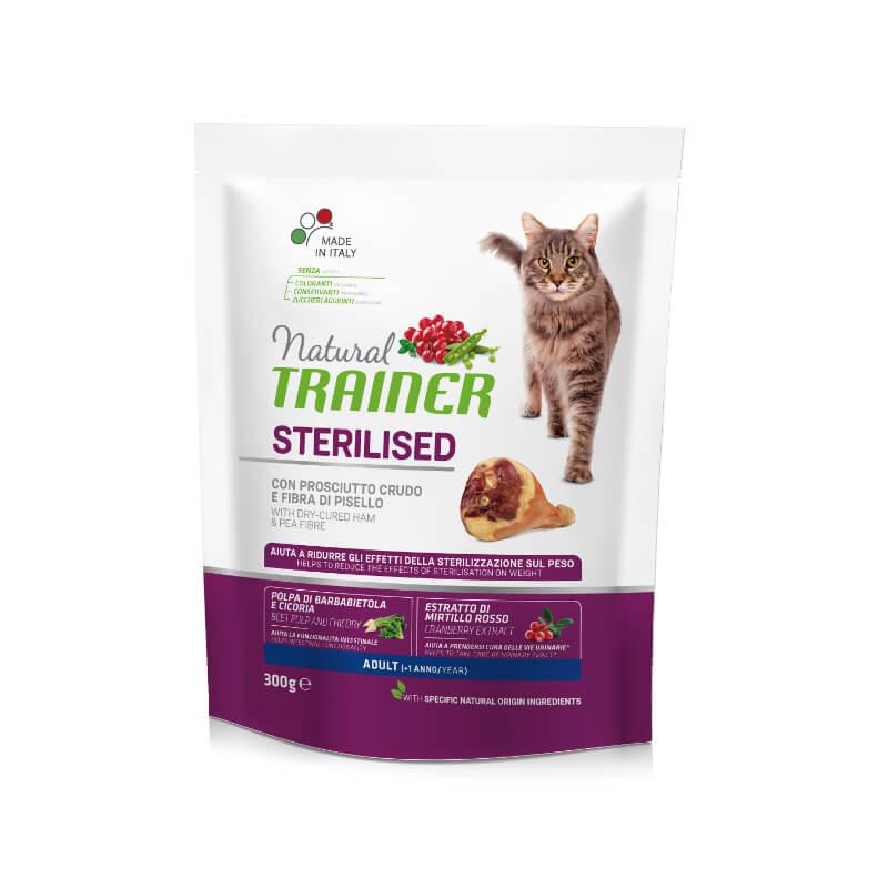 Trainer Cat Natural Sterilised - pršut - 300 g