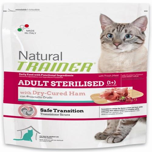Trainer Cat Natural Sterilised - pršut - 3 kg