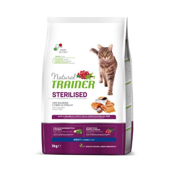 Trainer Cat Natural Sterilised - losos - 3 kg