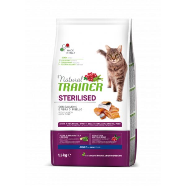 Trainer Cat Natural Sterilised - losos - 7,5 kg