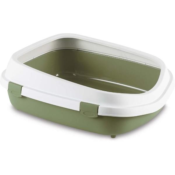 Stefanplast Sprint mačje stranišče z okvirjem - zelena - 54 x 71 x 24 cm