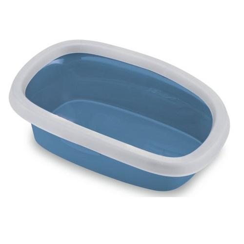 Stefanplast Sprint mačje stranišče z okvirjem - modra - 39 x 58 x 17 cm
