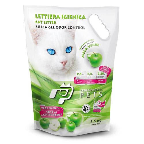 Silica posip za mačje stranišče, zeleno jabolko - 2,5 kg