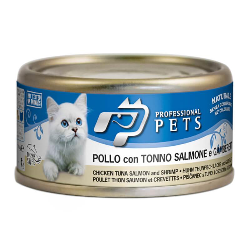 Professional Pets Naturale – piščanec, tuna, losos in kozice - 70 g