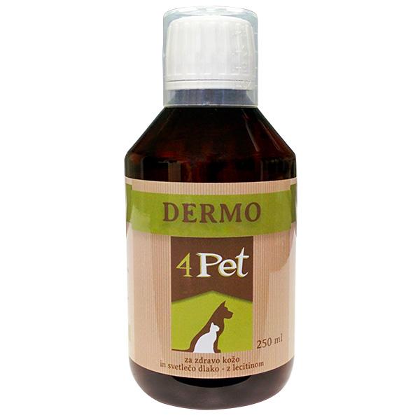 4Pet Dermo dopolnilo za kožo in dlako - 250 ml
