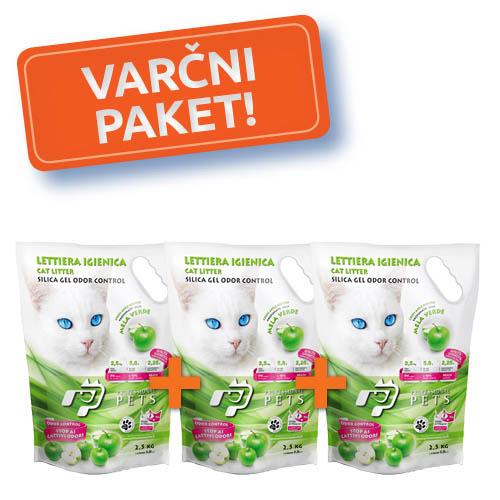 3x NPI CAT SILICA MAČJI POSIP ZELENO JABOLKO 2,5kg/5,8l