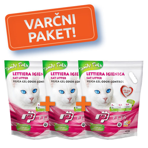 3x NPI CAT SILICA MAČJI POSIP NATURAL 4kg/9l-family pack