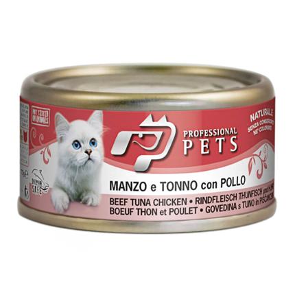 Professional Pets Naturale – govedina, tuna in piščanec – 70 g