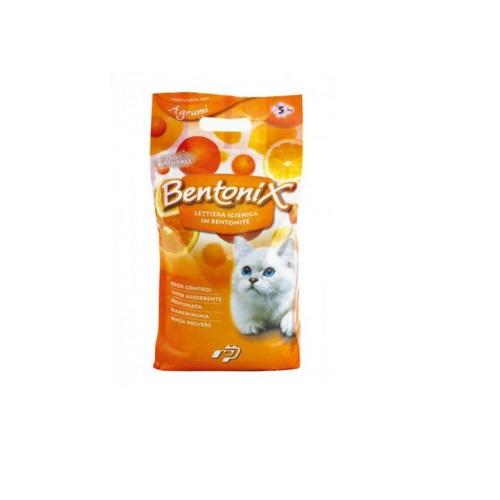 Bentonix posip za mačje stranišče, citrus - 5 kg