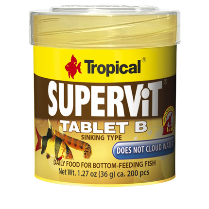 Tropical hrana za talne ribe Supervit Tabletes B (200 tbl) - 50 ml / 36 g