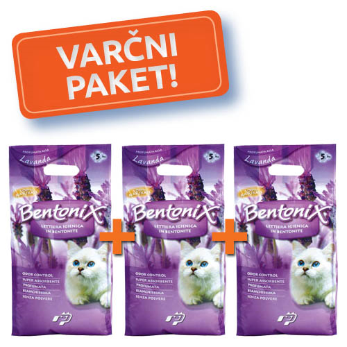 3x NPI CAT BENTONIX MAČJI POSIP 5 kg-LAVANDA