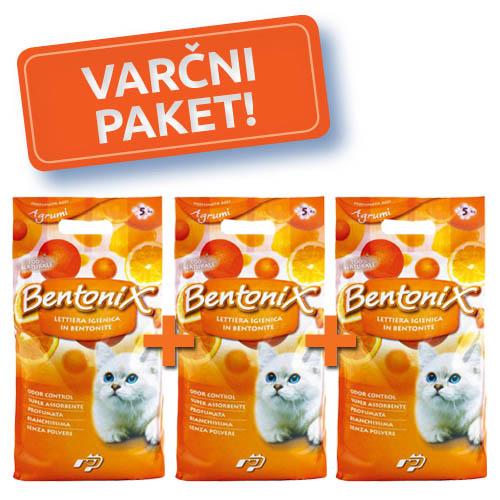 3x NPI CAT BENTONIX MAČJI POSIP 5 kg-CITRUS