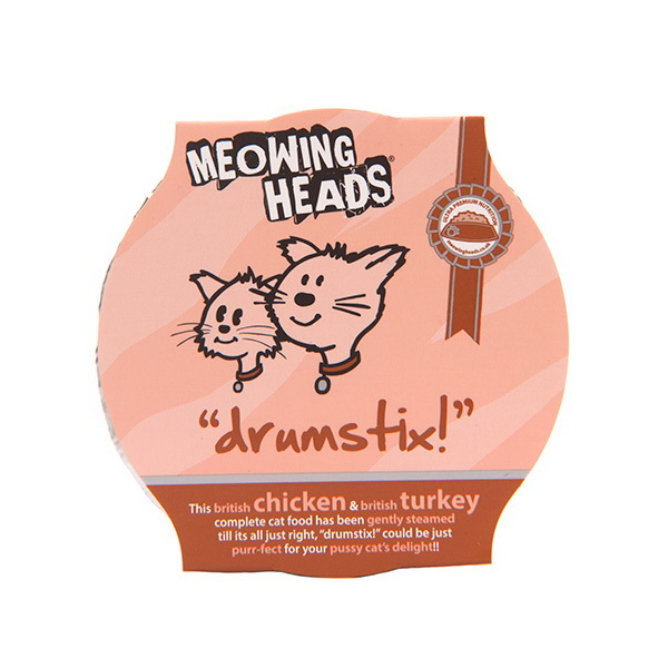Meowing Heads Drumstix - piščanec in puran - 85 g