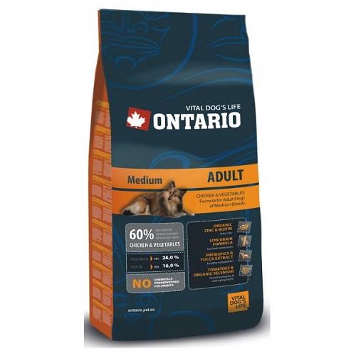 Ontario Adult Medium Breed 2,5 kg