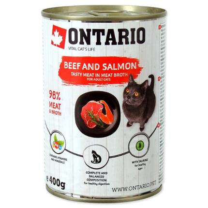 Ontario Cat - govedina, losos in sončnično olje - 400 g