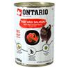 Ontario Cat - govedina, losos in sončnično olje - 400 g 400 g