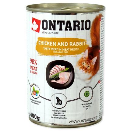 Ontario Cat - piščanec, zajec in lososvo olje - 400 g