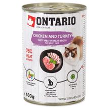Ontario Cat - piščanec, puran in lososvo olje - 400 g